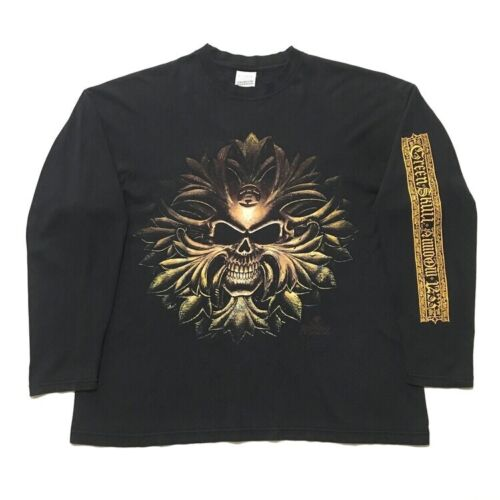 VINTAGE BLACK TOP Women Medium Soft Grunge Minimal Comfort Layer Grunge 90s Y2k Tribal Hippie Boho Short Sleeve Flower Girl Goth