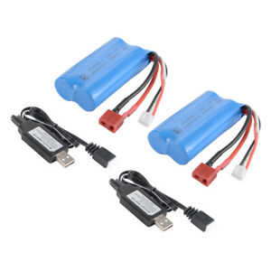 2x-7-4V-1500mAh-18650-Battery-Pack-W-T-Plug-USB-Charger-for-WLtoys-12428-BC922