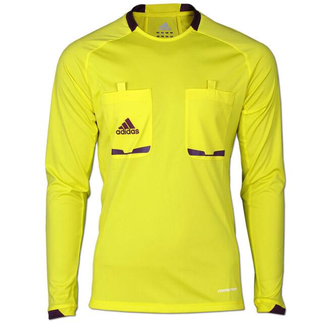 70cb03376 adidas Schiedsrichter Referee 12 Langarm Trikot Lemon Peel purple ...