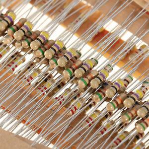 600pcs 30 Values 1/4W 5% Carbon Film Resistors Resistance Assortment Kit 10Ω-1MΩ