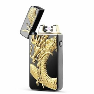 3D-Dragon-USB-Electric-Dual-Arc-Flameless-Torch-Rechargeable-Windproof-Lighter