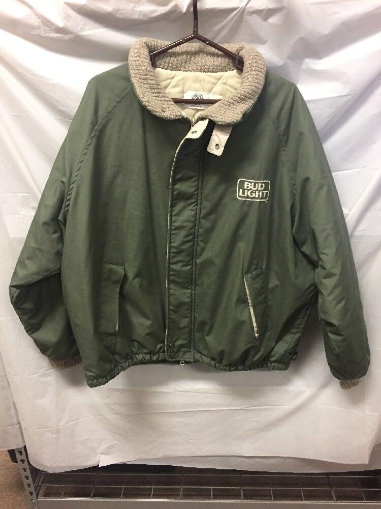 Oficial Anheuser Busch para Hombre  verde invierno abrigo talla XL Bud Light USA Made  diseño simple y generoso