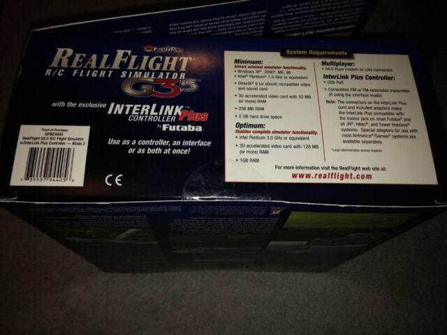 Great Planes RealFlight 3d R/c Flight Simulator G3 5 Interlink Futaba  Controller