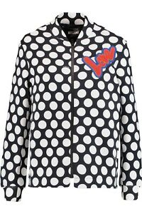 Moschino Dot Polka Size amp; 10 White Jersey Retail 12 Jacket Black £240 Love xRpqdXR