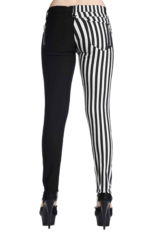 Vixxsin Dark Mist Leggings Gothique Punk nugoth Corset Rivets Pantalon Long Pantalon