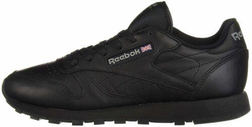 Reebok Men's Classic Leather Sneaker, Black, Size