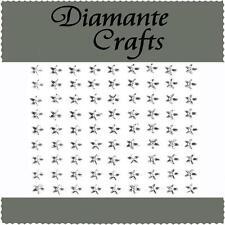 81 x 6mm Clear Diamante Stars Self Adhesive Rhinestone Body Art Vajazzle Gems