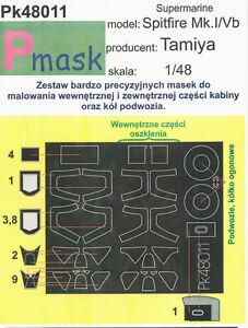 SPITFIRE MK 1/5 PAINTING MASK TO TAMIYA KIT #48011 1/48 PMASK