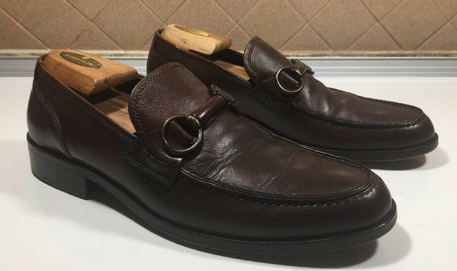 121)Johnston & Murphy Loafers Brown shoes Handcrafted Men Sz 9.5 M