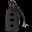Support-universel-de-plaque-d-039-immatriculation-a-montage-lateral-pour-moto-bobber miniature 3