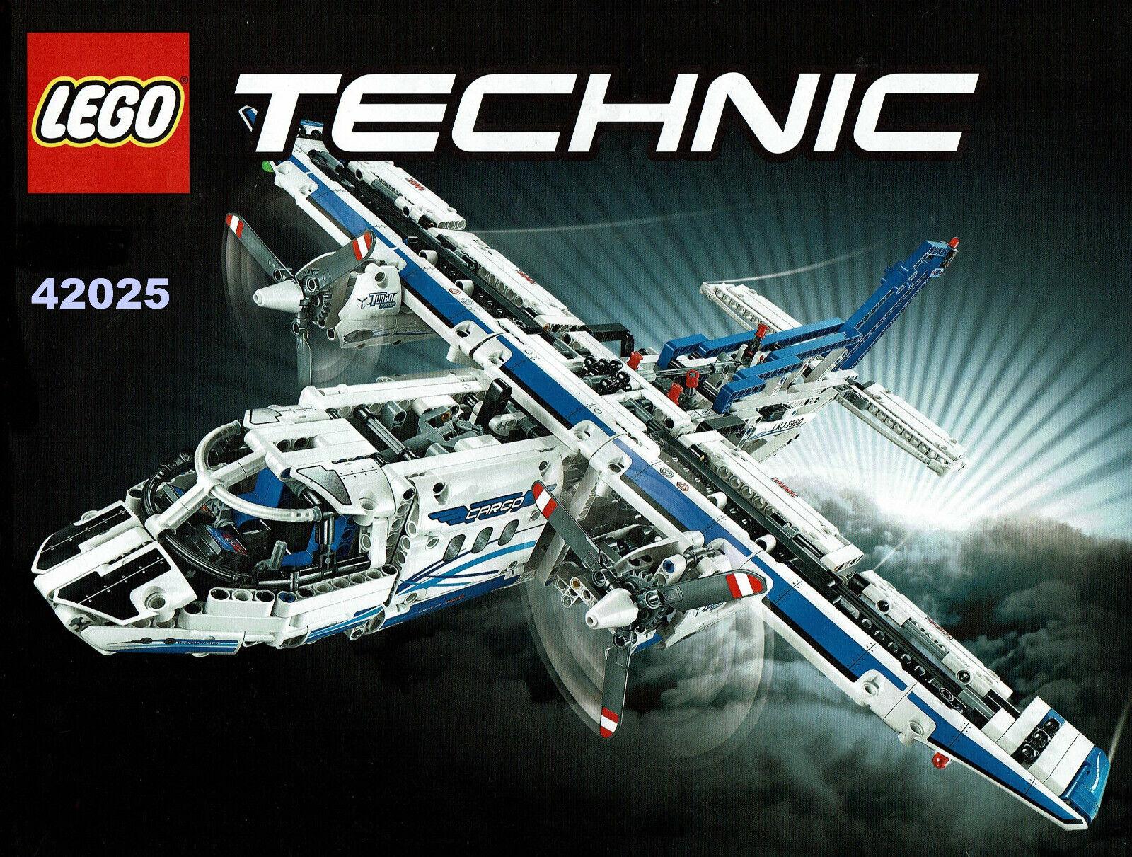 LEGO Technic 42025  Frachtflugzeug Top Modell 100 % komplett mit Powerfunction
