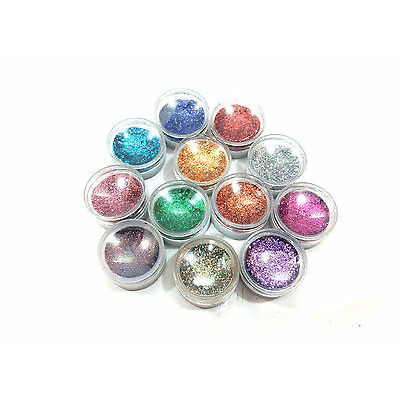 MAKE A GLAMOUR FROM EYECARE 12 COLOR THICK SHIMMER GLITTER FOR BEAUTY QUEEN-