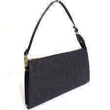 Auth LOUIS VUITTON Black Epi Pochette Accessoires M52942 Hand bag Pouch AR0080