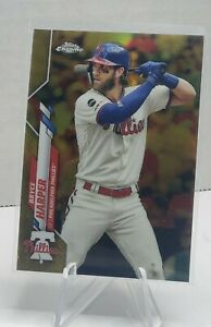 2020 Bryce Harper Topps Chrome Gold Refractor numbered # 33/50, /50 free ship!
