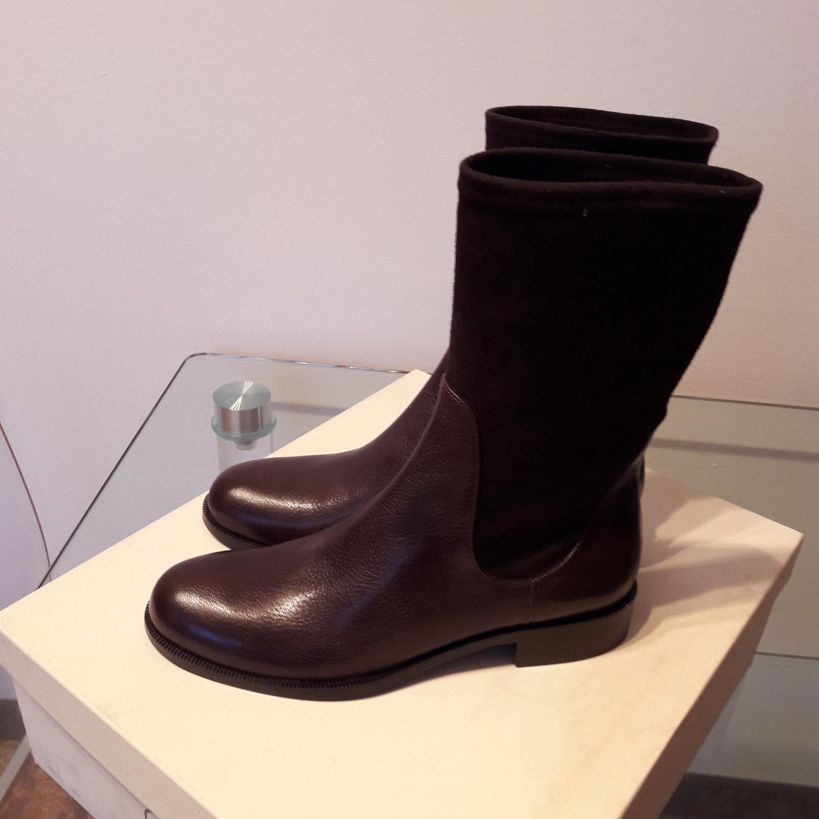 Stivaletto e GUNEX (Brunello Cucinelli) pelle e Stivaletto camoscio 100% marrone (NUOVO) bed57a