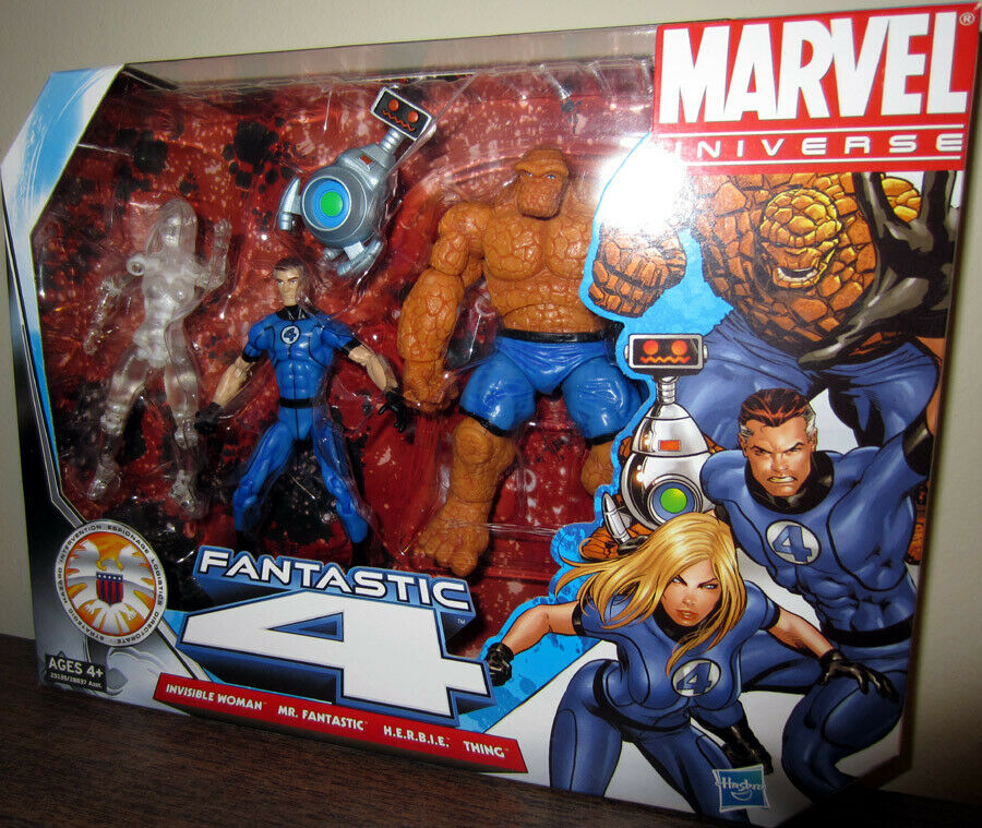 FANTASTIC FOUR ( VHTF ) ( VARIANT ) MARVEL UNIVERSE ( 2010 ) ACTION FIGURES SET