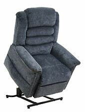 Catnapper Soother Power Lift Full Lay-Out Chaise Recliner Chair in Galaxy, Blue