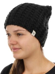 0e253c0c83d O NEILL BEANIE headpiece winter hat Black Relax Chunky Knitted Warm ...