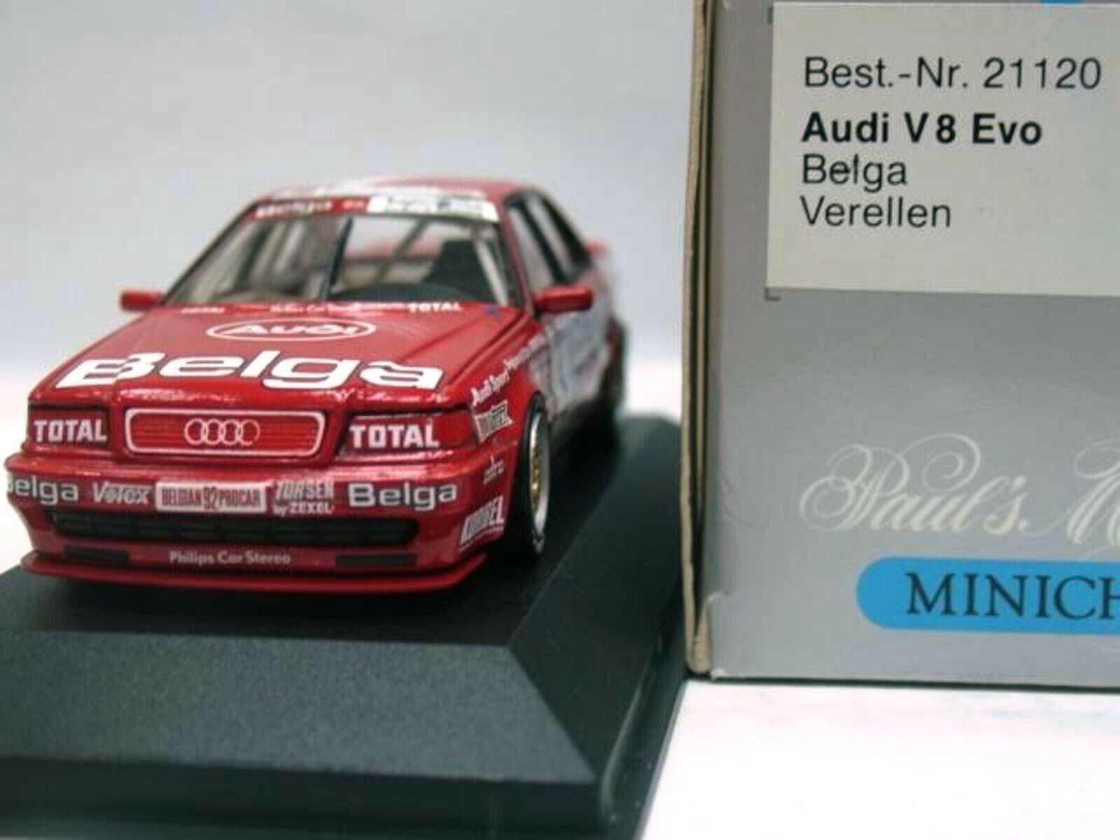 Wow extrêmement rareI V8 QUATTRO EVO 1992 BPC VERELLEN Zolder 1 43 Minichamps