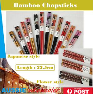 New Au Japanese Flower Style  High Quality Wood Chopsticks