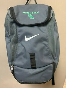 NIKE SPORT BACKPACK GRAY UNIVERSITY NORTH TEXAS FUNCTIONAL MANY POCKETS BBALL
