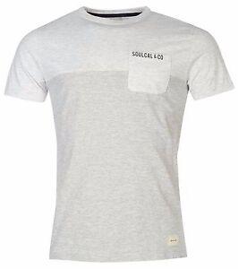 SOULCAL-amp-Co-hommes-Tee-shirt-FR-uni-gris-FR-NEUF