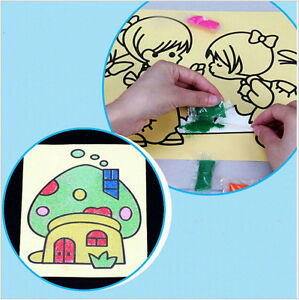 10Set-Lot-Color-Sand-PaintingClassical-Learning-And-Educational-Children-039-s-ToyHG