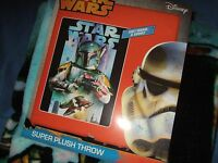 Star Wars Boba Fett Bounty Hunter Plush Fleece Throw Blanket 46x60 Disney