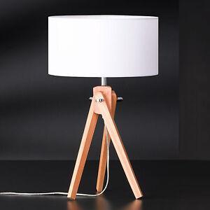 Trois-Pieds-Gin-Lampe-de-Table-58cm-en-Bois-Tabouret-Honsel-51631