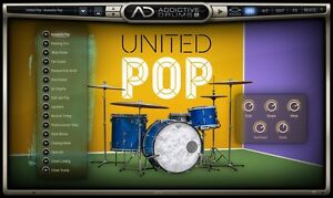 Details about XLN Audio United Pop ADpak Drum Kit Sample EXPANSION for  Addictive Drums 2