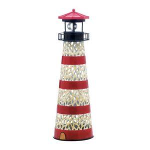 solar figurines metal lighthouse decorative garden lights solar rh ebay com