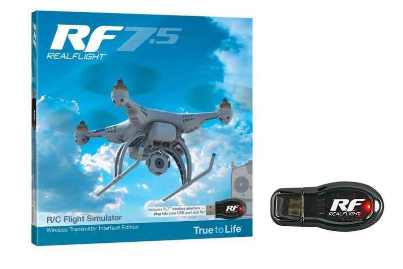 RealFlight simulatore di volo RF 7.5 con USB adattatore wireless per Tactic & SLT trasmettitore