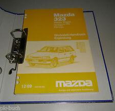 Werkstatthandbuch Nachtrag Mazda 323 Kombi 4WD Typ BW Stand 12/1989