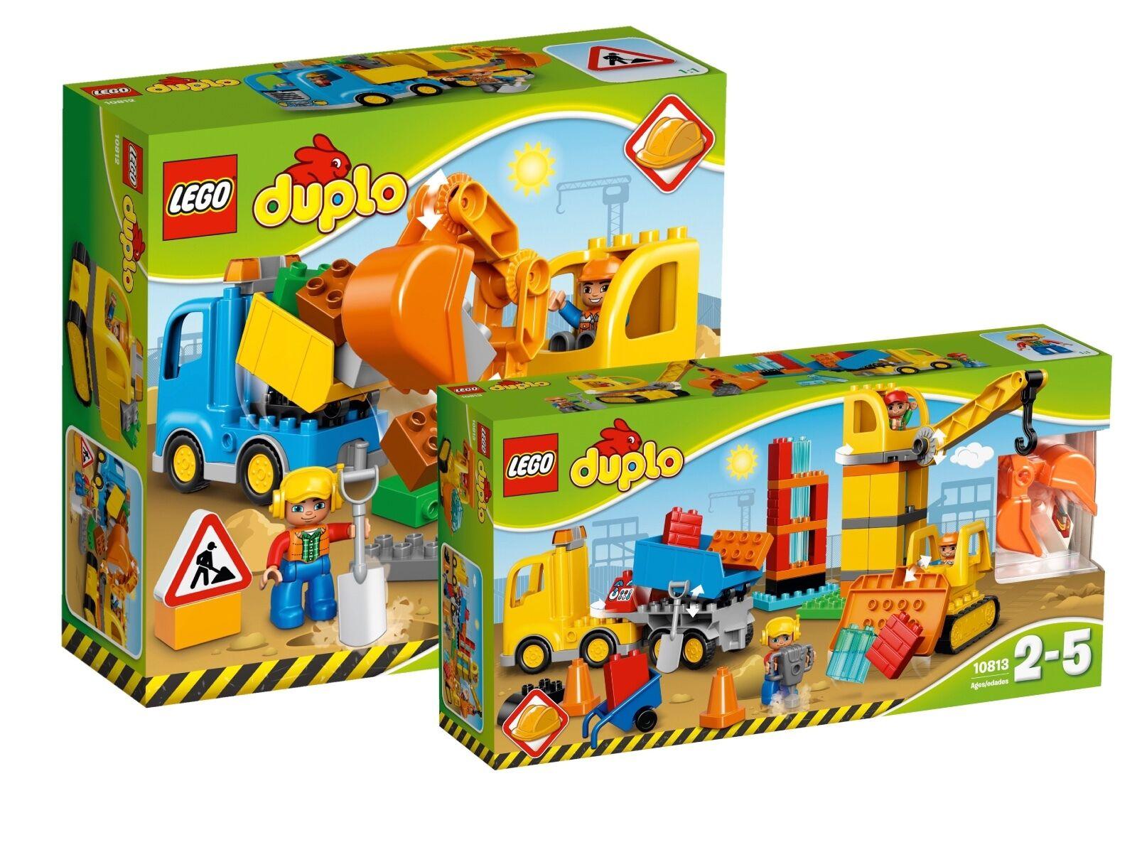 Lego ® duplo ® doble pack 10812+10813 excavadoras & camiones + gran obra nuevo embalaje original