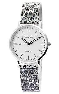 Donna-Kelly-Damenuhr-Leopard-Meshband-Analog-Metall-Quarz-Armbanduhr-X1300021003