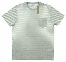 *NEW* J.Crew Men's Medium Textured Cotton T-shirt in Quartz Green Stripe