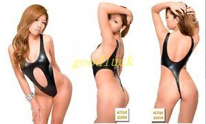 b52f032fd85 Image is loading Sexy-Metallic-Leotard-Bodysuit-One-piece-Thong-Leotard-