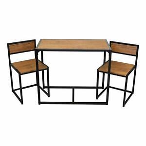 Dettagli su 2 posti tavolo da pranzo e le sedie sala colazione cucina Set di mobili piccoli NUOVO mostra il titolo originale
