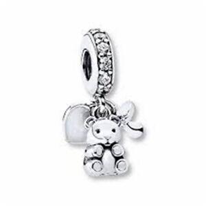 Genuine Pandora Silver Clear Cz Baby Treasures Charm