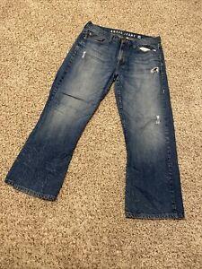 Guess-Jeans-Cliff-Bootcut-Denim-Men-039-s-Size-34-x-28-Distressed-Denim