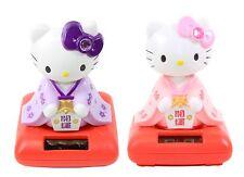 2 Set Cute Hello Kitty in Kimono Solar Toy Lucky Home Decor Gift US Seller