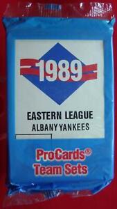 1989-ALBANY-YANKEES-PROCARDS-MINOR-LEAGUE-TEAM-SET-DEION-LEYRITZ-NY-YANKEES