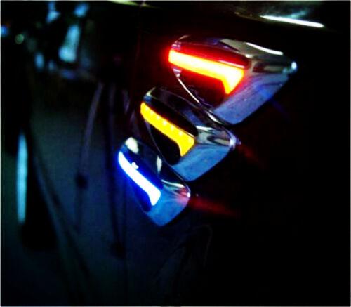 Blue LED Car Fender Side Indicators Turn Signal Steering Panel light For SUV 4WD