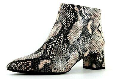 16c39ef39d4 Violeta by Mango Womens UK 4 EU 37 Botin Snake Zip Up Block Heeled Ankle  Boots | eBay