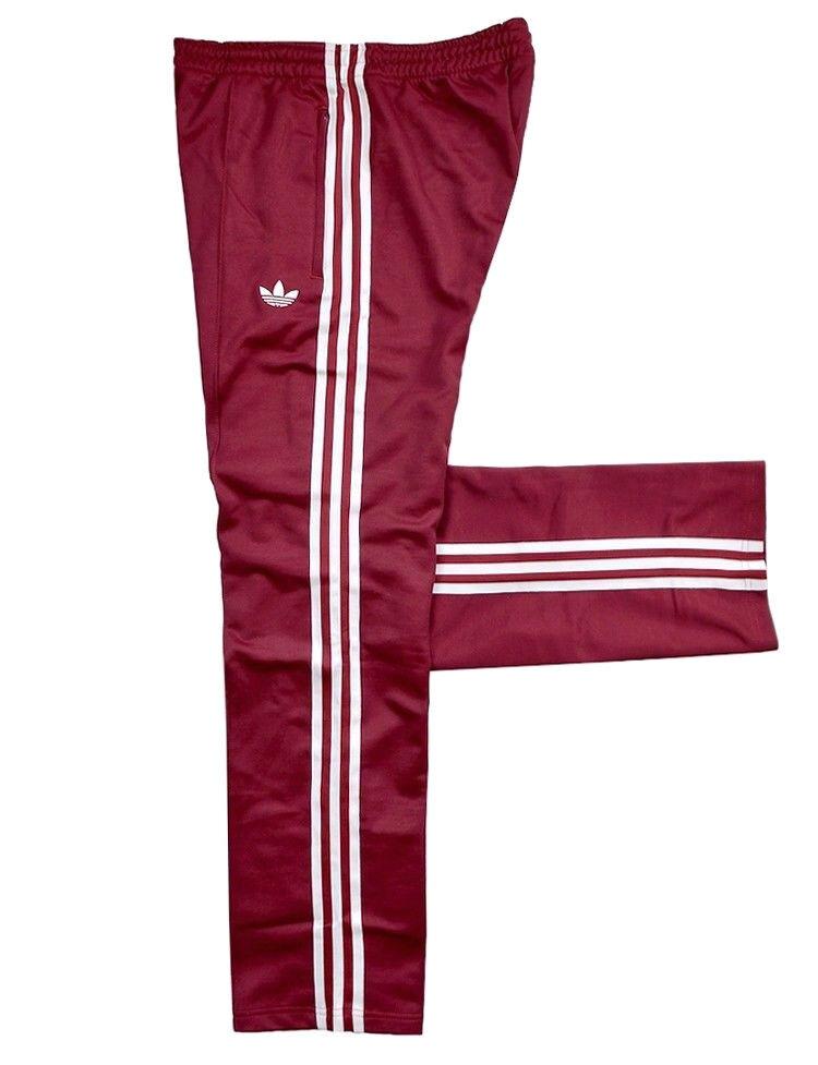 Adidas Adidas Adidas Beckenbauer Herren Trainingshose Jogging Hose Firebird Pant retro weinrot 9e079f