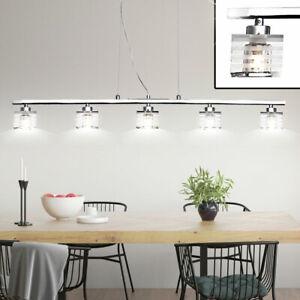 Detalles de Comedor Cubrir Péndulo Luz 5-flammig Cromo Vidrio Dado Diseño  Lámpara Colgante