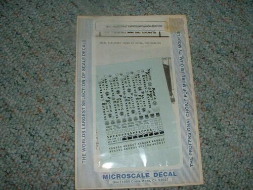 Microscale decals N 6017 Pacific Fruit Express Mechanical reefers C37