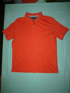 Banana-Republic-Homme-a-manches-courtes-Luxe-Touch-Taille-XL-Polo-Shirt-Orange-Rouge