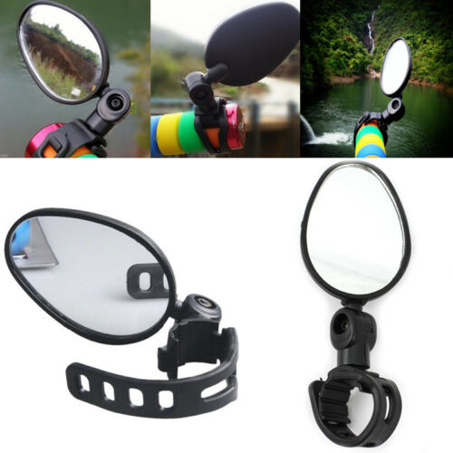Adjustable Rotaty Cycling Bicycle Bike Handlebar Rearview Glass Mirror Safety