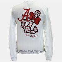Girlie Girl Originals alabama Bowtie Anchor White Long Sleeve T-shirt